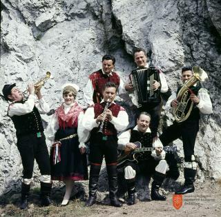Ansambel bratov Avsenik. Foto: S. Jerko, 1969.