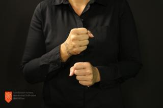 Slovenski znakovni jezik. Foto: V. Škof, 2017