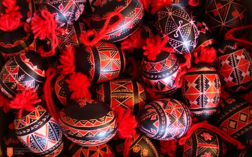 Bela krajina decorated Easter eggs.