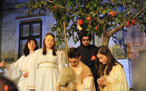 Performance of the Škofja Loka Passion Play.
