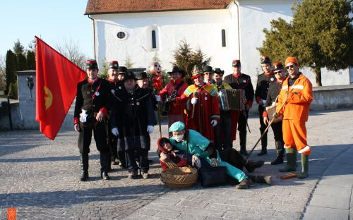 Shrovetide group Šelmarija from Kostanjevica.
