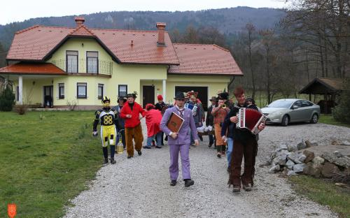 Collecting gifts on Shrove Tuesday in Vrbica.