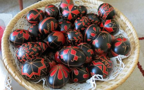 Prekmurje decorated Easter eggs.