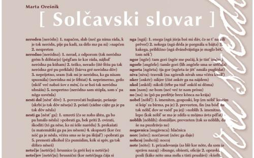 Solčava dialect.