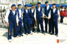Kulturno društvo starodavnih iger Punta Piran. Photo: Elio Bičič, 2012.