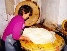 Cilka Mlakar on Krstenica Mountain. Photo: Špela Ledinek Lozej, 1998