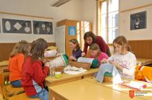 Čipkarska šola Idrija (Gimnazija Jurija Vege). Foto: J. Peternelj, 2007.