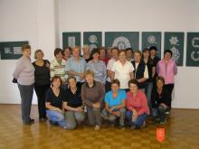 Klekljarsko društvo Marjetica Cerkno. Foto: M. Magajne, 2011.