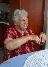 Pripovedovalka Ana Mlekuž iz Čezsoče. Foto: B. Ivančič Kutin, 2018