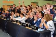 Predstavniki držav, ki so pripravile multinacionalno nominacijo, foto: T. Roženbergar, 2018