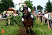 Letošnji zmagovalec Matic Kosmač s kobilo Iskro. Foto: A. Jerin, 2019
