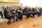 Župan Občine Škofja Loka mag. Miha Ješe ob predstavnicah Ministrstva za kulturo. Foto: A. Jerin, 2017.